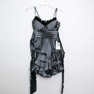 B Darlin Slate Gray Bubble Dress NWT SZ 3/4